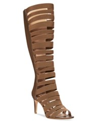 Charles By Charles David Zoey Strappy Elastic Dress Sandals Women's Shoes Dark Taupe