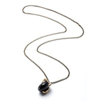 By Natalie Frigo Large Claw And Black Lucite Pendant