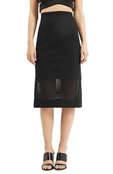 Topshop Women's Laser Cut Tube Skirt