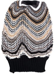Missoni Slouchy Knitted Beanie Blue