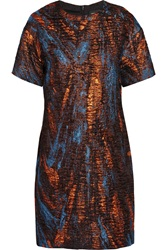 Ostwald Helgason Galaxy Metallic Jacquard Dress