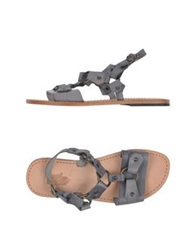 Local Apparel Sandals Grey