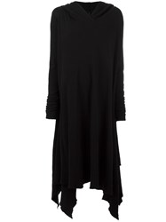 Poeme Bohemien Longsleeved Hooded Dress Black