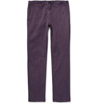 Michael Kors Slim Fit Garment Dyed Stretch Cotton Twill Chinos Grape