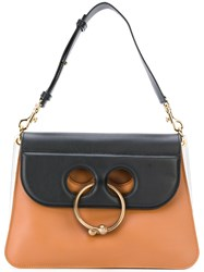 J.W.Anderson Piercing Applique Tote Bag Women Calf Leather One Size Brown