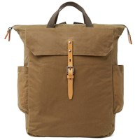 Ally Capellino Ashley Canvas Backpack Brown