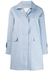 Mackintosh Placid Blue Bonded Cotton Coat Lr