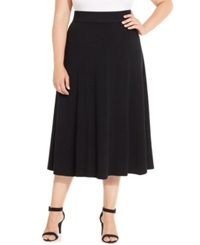 Charter Club Plus Size Pull On A Line Skirt Only At Macy's Deep Black