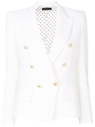 Alexandre Vauthier Buttoned Up Jacket White
