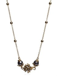 Kasun London Orb And 3 Pearl Chain Necklace