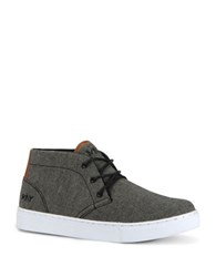 Marc New York Wythe Mid Top Canvas Lace Up Sneakers Grey White