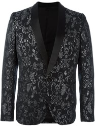 Christian Pellizzari Patterned Formal Blazer Black