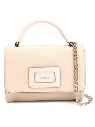 Hogan Chain Cross Body Bag Nude And Neutrals