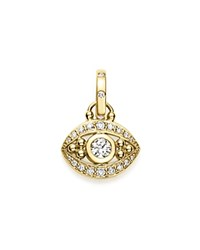 Temple St. Clair 18K Yellow Gold Evil Eye Pendant With Diamonds White Gold