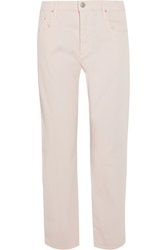 Isabel Marant Earson High Rise Straight Leg Jeans Pink