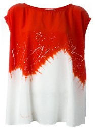 8Pm Oversize Tie Dye T Shirt Red