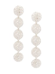 Bea Bongiasca Semisphere Rice Ball Drop Earrings Metallic