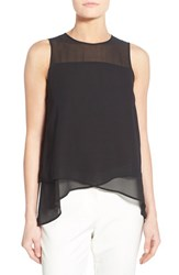 Women's Vince Camuto Asymmetrical Sleeveless Blouse Rich Black