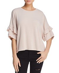 Michelle By Comune Keyesville Ruffled Sleeve Tee Piglet Pink