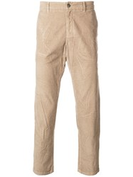 Gucci Creased Corduroy Trousers Nude And Neutrals