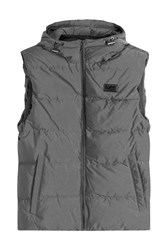 Michael Kors Collection Down Vest With Hood Grey