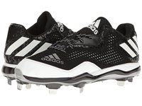 Adidas Poweralley 4 Black White Silver Metallic Men's Cleated Shoes