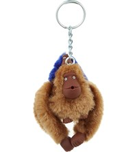 Kipling Fluffy Monkeys Keyring 7Cm Tobacco Ink