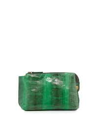 Beirn Large Watersnake Cosmetics Pouch Green