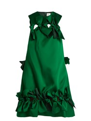 Maison Rabih Kayrouz Multi Ties Sleeveless Dress Dark Green