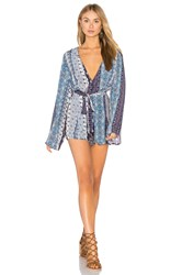 Gypsy 05 Wrap Romper Blue