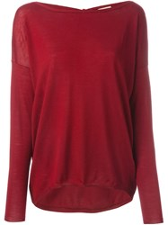 P.A.R.O.S.H. Back Tie Sweater Red