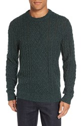 Bonobos Men's Slim Fit Cable Knit Sweater Green