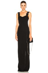 Givenchy Buckle Strap Maxi Dress In Black