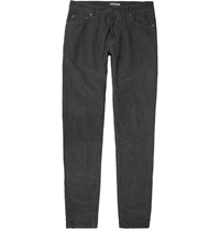 Bottega Veneta Slim Fit Corduroy Trousers Gray