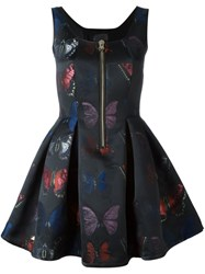 Philipp Plein 'Blissful' Butterfly Jacquard Dress Black