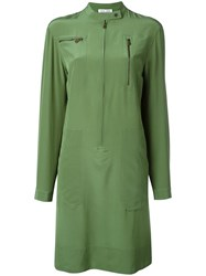 Tomas Maier Zip Pocket Dress Green