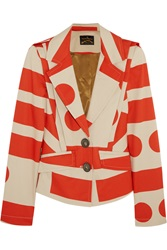 Vivienne Westwood Printed Stretch Cotton Twill Blazer