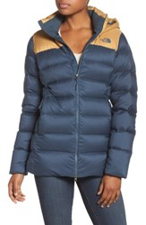 The North Face Women's Nupste Ridge Down Jacket Ink Blue Biscuit Tan