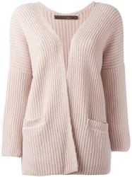 Incentive Cashmere Open Cardigan Pink Purple