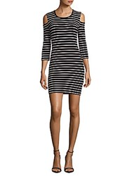French Connection Cold Shoulders Dress Black White