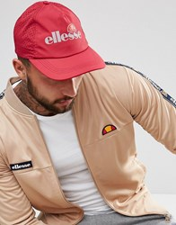 Ellesse Baseball Cap With Reflective Logo In Red Red