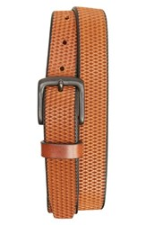 Men's Remo Tulliani Lasercut Leather Belt Tan