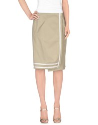 Victoria Beckham Denim Skirts Knee Length Skirts Women Beige