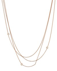 Kismet By Milka Beads Multilayer Diamond Bezel Chain Necklace In 14K Rose Gold
