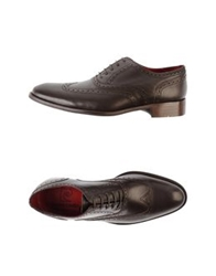 Pierre Cardin Lace Up Shoes Dark Brown