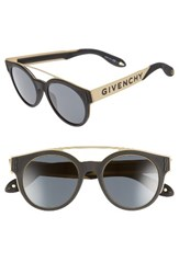 Givenchy Women's 50Mm Round Sunglasses Black Gold Black Gold