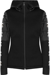 Fendi Karlito Printed Modal Blend And Quilted Shell Jacket Black