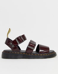Dr. Martens Dr Vegan Gryphon Strap Sandals In Red