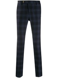 Entre Amis Slim Fit Checked Pattern Trousers 60