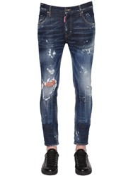 Dsquared 16Cm Skater Fit Ripped Denim Jeans